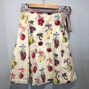 Anthropologie Elevenses Fruit Skirt